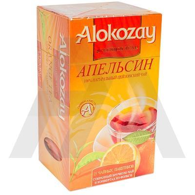 Чай черный пакетированный   25 шт в индивидуальной упак АПЕЛЬСИН   ''ALOKOZAY''   1/24