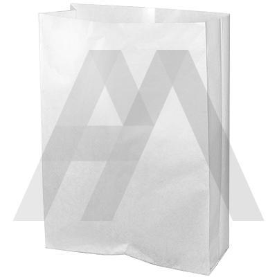 Пакет бумажный   ДхШхВ 180х85х350 мм ламинированный с плоским дном БЕЛЫЙ   1/2000