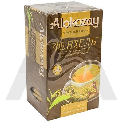 Чай травяной пакетированный   25 шт в индивидуальной упак ФЕНХЕЛЬ   ''ALOKOZAY''   1/24