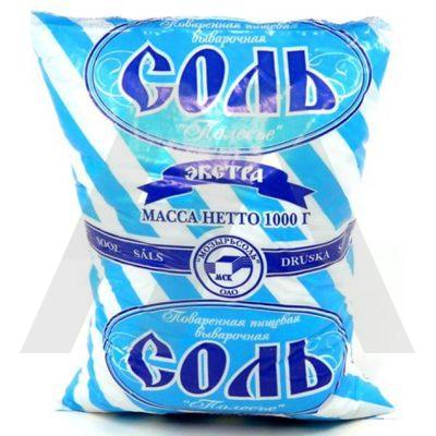 Соль пищевая   1кг ЭКСТРА пакет   1/20