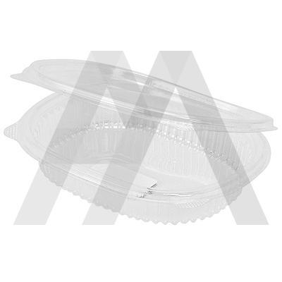 Контейнер   250мл ДхШхВ 159х130х29 мм с неразъемной крышкой овальный OPS   ''КОМУС''   1/360