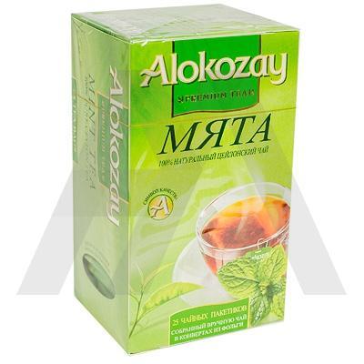 Чай черный пакетированный   25 шт в индивидуальной упак МЯТА   ''ALOKOZAY''   1/24